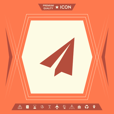 Paper airplane icon . Signs and symbols - graphic elements for your design