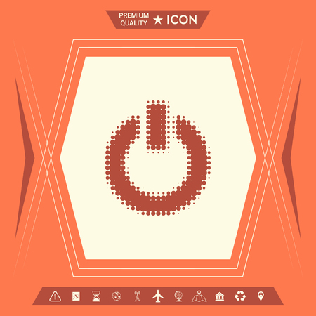 Button  with arrow. Element for your design. . Signs and symbols - graphic elements for your design Stock Illustratie