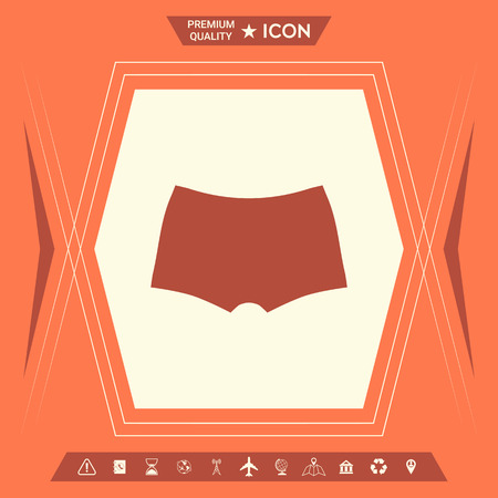 Men underwear, the silhouette. Menu item in the web design . Signs and symbols - graphic elements for your design Banque d'images - 111567029