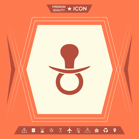 Baby pacifier icon. Element for your design . Signs and symbols - graphic elements for your design Illusztráció
