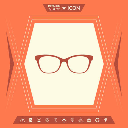 Glasses Icon . Signs and symbols - graphic elements for your design