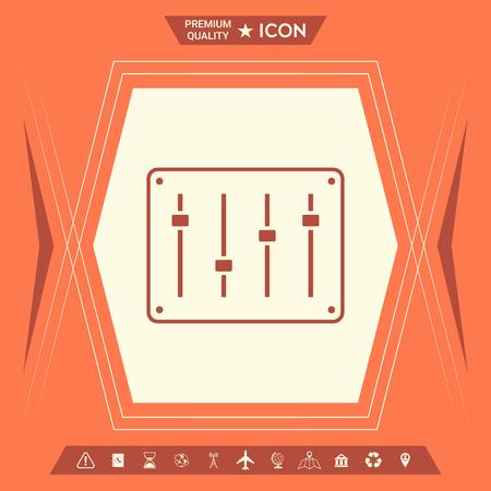 Sound mixer console icon