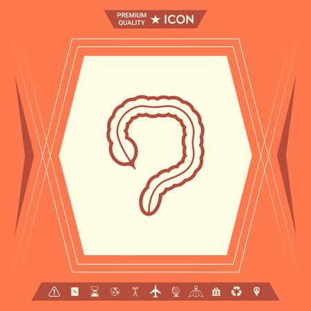 Human organ - the large intestine icon Stock Vector - 107520636