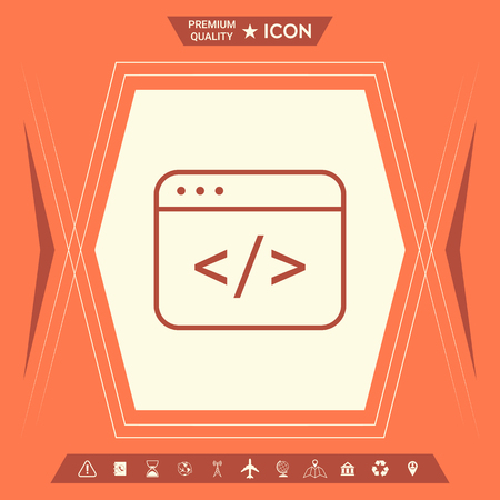 Code editor icon. Element for your design . Signs and symbols - graphic elements for your design