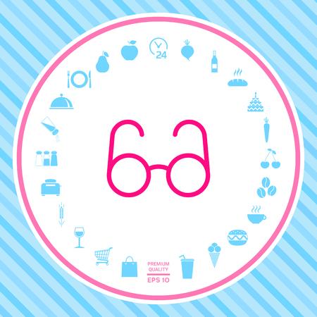 Glasses symbol - search icon