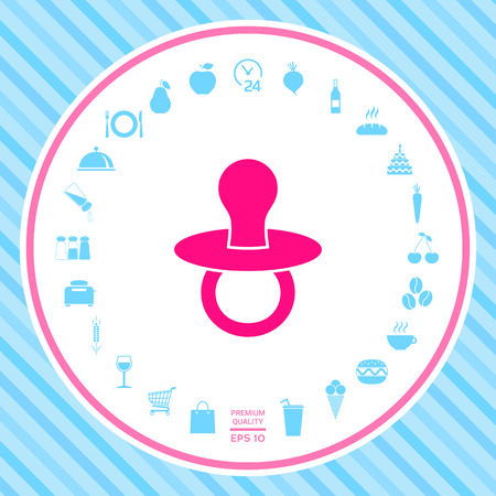 Baby pacifier -  icon Stock Photo