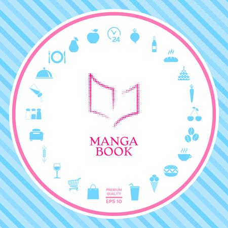 Elegant halftone logo with book symbol