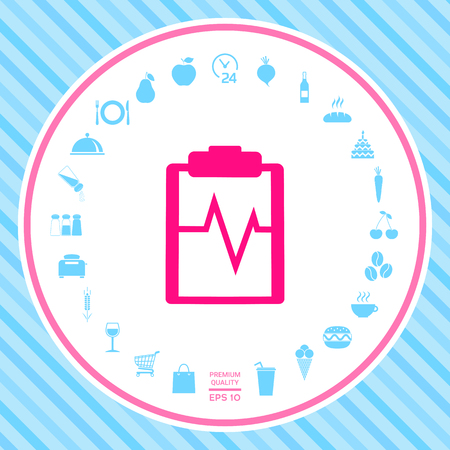 Electrocardiogram icon. Element for your design . Signs and symbols - graphic elements for your design