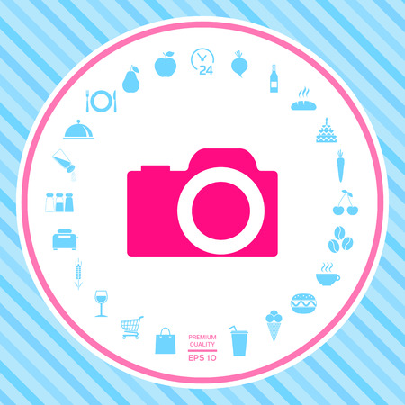 Camera symbol icon. Element for your design . Signs and symbols - graphic elements for your design