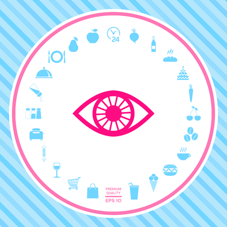 Eye symbol . Signs and symbols - graphic elements for your design