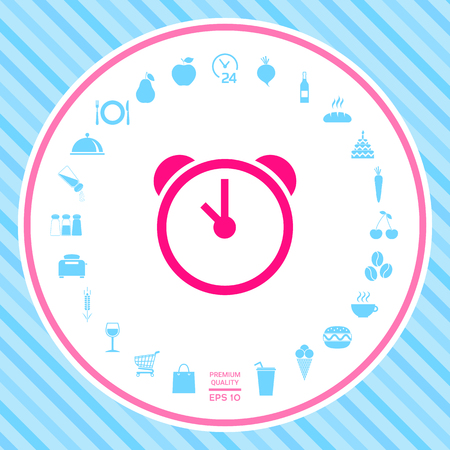Alarm clock icon Reklamní fotografie