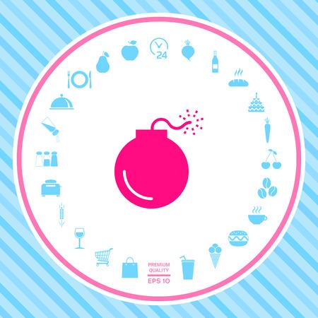 Bomb symbol icon
