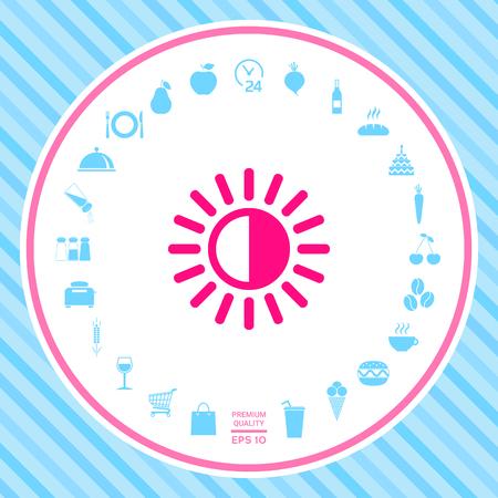 Icono de símbolo de brillo
