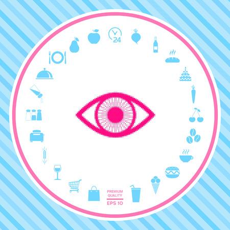 Eye - halftone logo