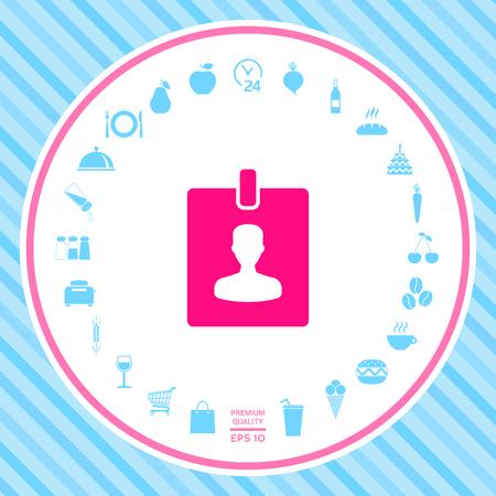 Badge symbol icon Stock Photo