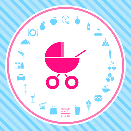 Baby carriage icon Stock Photo