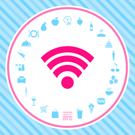 Internet connection icon . Signs and symbols - graphic elements for your design Illustration