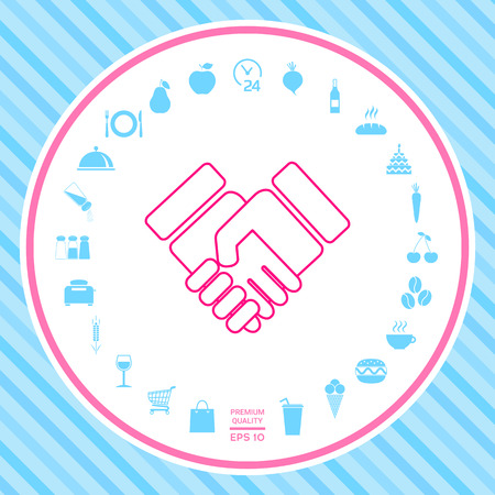 Handshake symbol icon . Signs and symbols - graphic elements for your design
