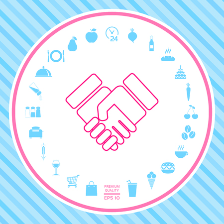 Handshake symbol icon Stock Photo