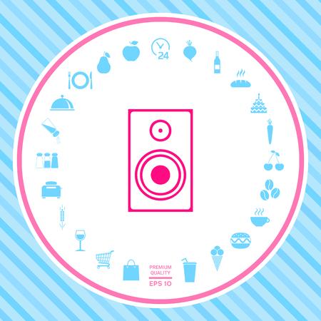 Audio speaker icon Stock Photo