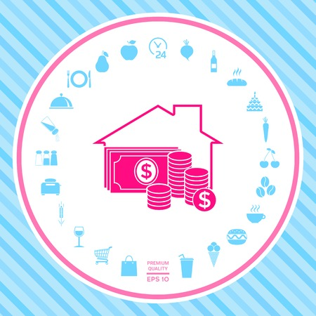 Home insurance icon . Signs and symbols - graphic elements for your design Illustration