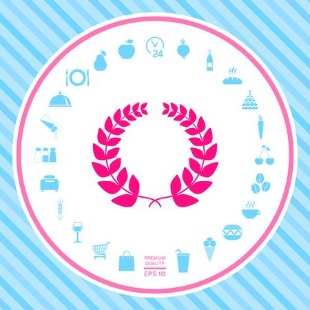 Corona di alloro - per il tuo design. Segni e simboli - elementi grafici per il tuo design Vettoriali