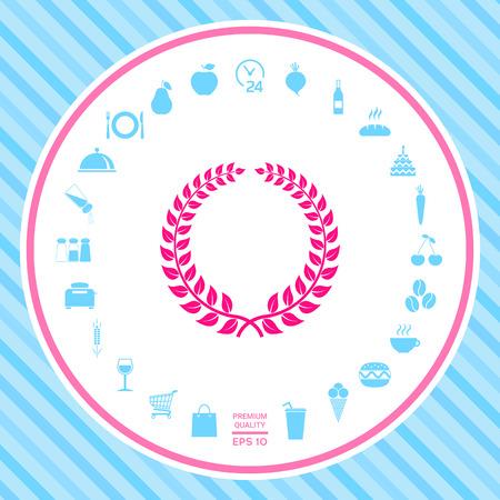 Laurel wreath - design symbol Illustration