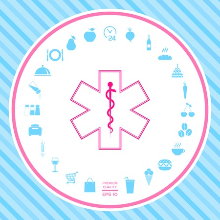 Medical symbol Star of Life . Signs and symbols - graphic elements for your design