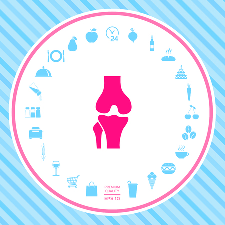 Knee joint icon . Signs and symbols - graphic elements for your design