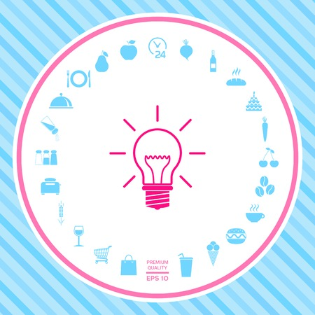 Light bulb - new ideas . Signs and symbols - graphic elements for your design