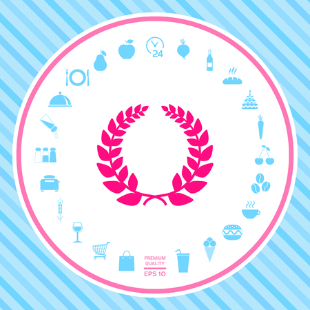 Laurel wreath, element for yor design . Signs and symbols - graphic elements for your design