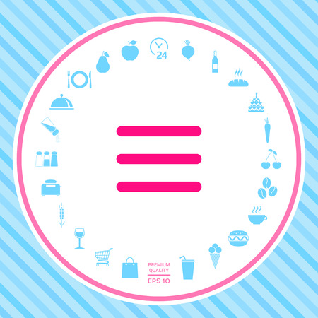 Menu Icon . Signs and symbols - graphic elements for your design Illustration