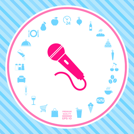 Microphone symbol icon . Signs and symbols - graphic elements for your design