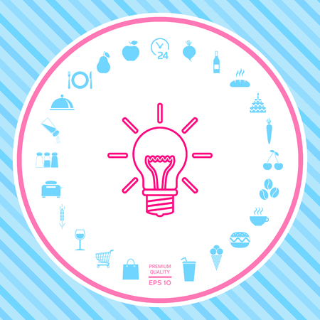 Light bulb - new ideas. Line icon . Signs and symbols - graphic elements for your design