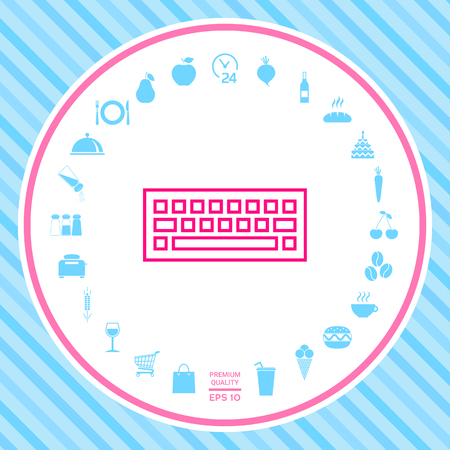 Keyboard icon . Signs and symbols - graphic elements for your design