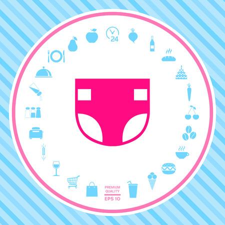 Nappy icon symbol Stock Photo