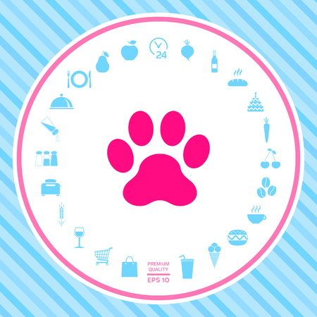 Paw icon . Signs and symbols - graphic elements for your design
