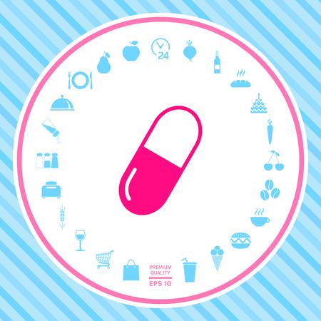 Simbolo dell'icona di pillola