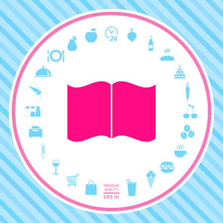 Open book icon . Signs and symbols - graphic elements for your design Vectores