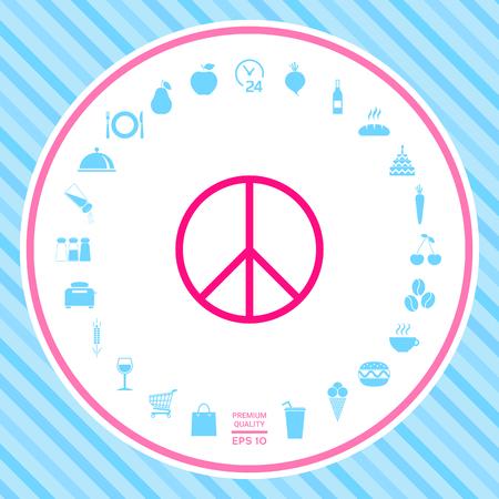 Peace sign symbol