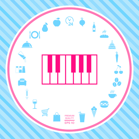 Piano keyboard icon . Signs and symbols - graphic elements for your design Illustration