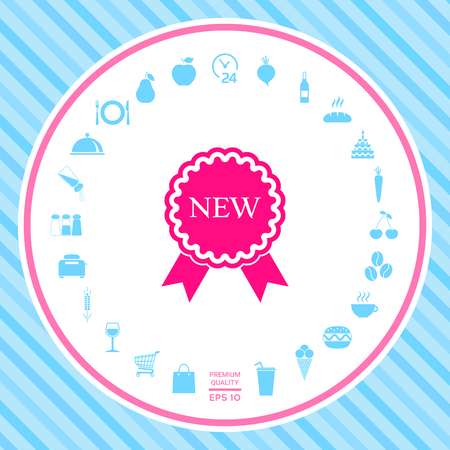 New offer icon with ribbons . Signs and symbols - graphic elements for your design