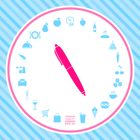 Pen icon . Signs and symbols - graphic elements for your design
