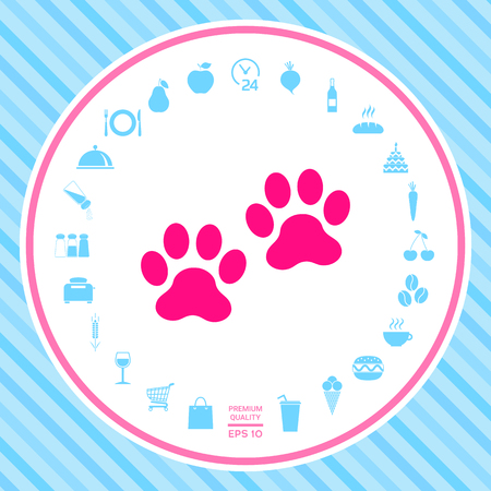 Paws icon . Signs and symbols - graphic elements for your design