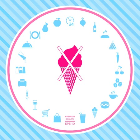No ice cream symbol icon 스톡 콘텐츠