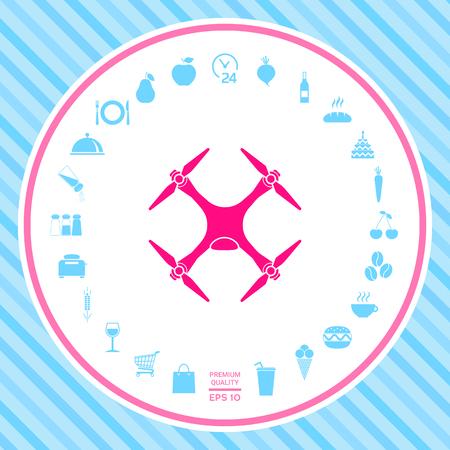 Quadcopter, drone icon
