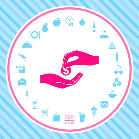 Receiving money icon