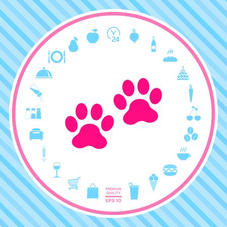 Paws icon symbol Stockfoto