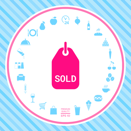 Sold tag . Signs and symbols - graphic elements for your design  イラスト・ベクター素材