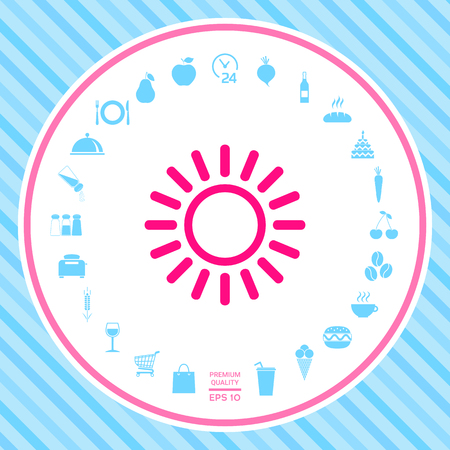 Sun line icon . Signs and symbols - graphic elements for your design Illustration